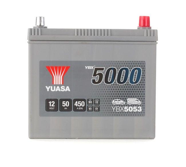 YBX5053 YUASA YBX5000 Batterie-Kapazität: 50Ah Kälteprüfstrom EN: 450A, Spannung: 12V, Polanordnung: 0 Starterbatterie YBX5053 günstig kaufen