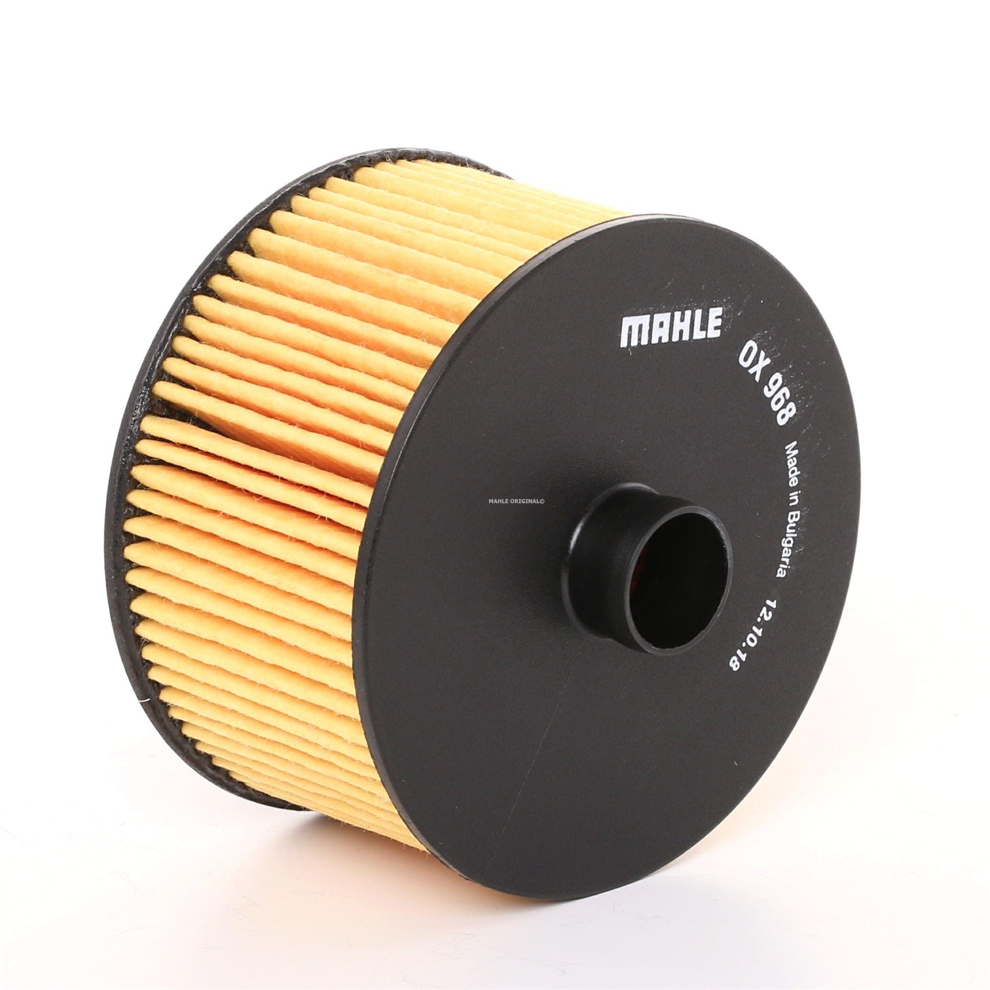 MAHLE ORIGINAL: Original Ölfilter OX 968D (Innendurchmesser 2: 21mm, Innendurchmesser 2: 21mm, Ø: 91,5mm, Ø: 91,5mm, Höhe: 63mm, Höhe 1: 52mm)