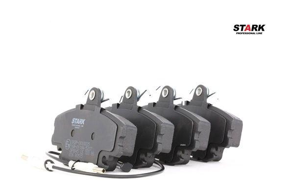 SKBP-0010035 STARK Vorderachse, inkl. Verschleißwarnkontakt Höhe: 64,8mm, Breite: 99,9mm, Dicke/Stärke: 18,2mm Bremsbelagsatz, Scheibenbremse SKBP-0010035 günstig kaufen