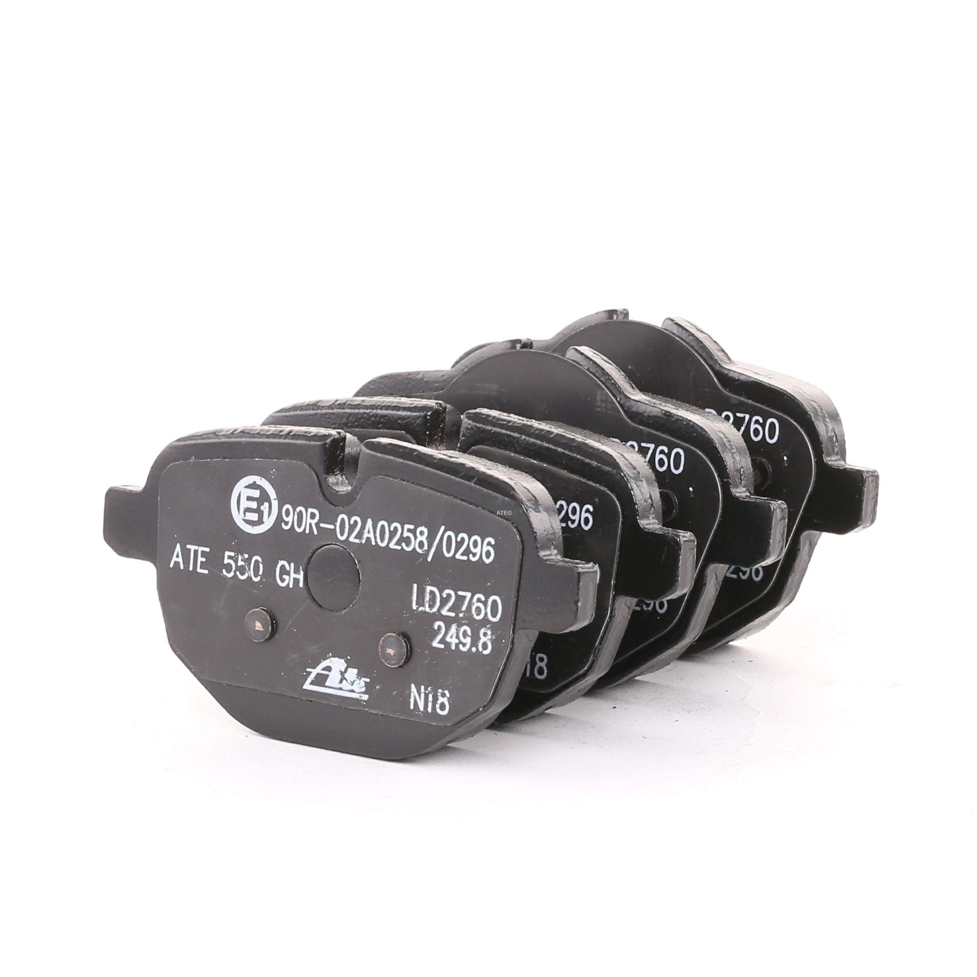 24562 ATE Ceramic exkl. Verschleißwarnkontakt, für Verschleißwarnanzeiger vorbereitet, mit Bremssattelschrauben, mit Zubehör Höhe 1: 63,2mm, Höhe 2: 56,2mm, Breite: 106,0mm, Dicke/Stärke: 17,7mm Bremsbelagsatz, Scheibenbremse 13.0470-2760.2 günstig kaufen