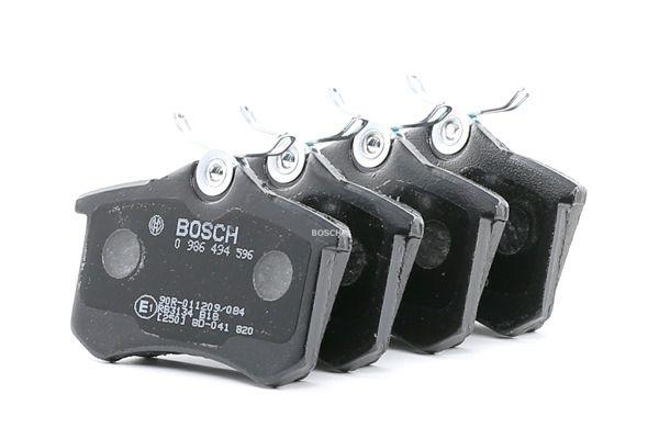 20961 BOSCH mit Montageanleitung, mit Anti-Quietsch-Blech, mit Schrauben Höhe: 53,2mm, Breite: 87,2mm, Dicke/Stärke: 16,3mm Bremsbelagsatz, Scheibenbremse 0 986 494 596 günstig kaufen