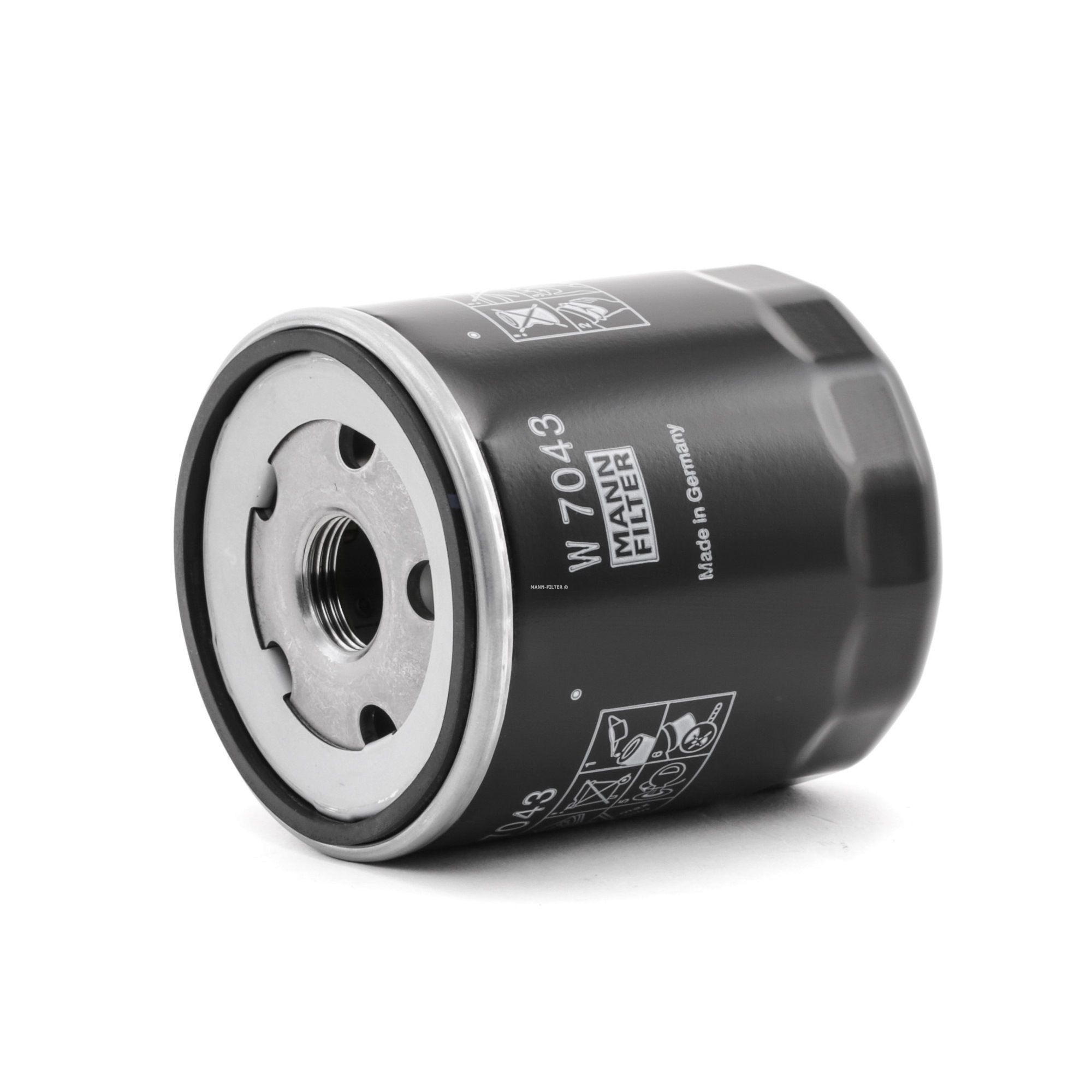 MANN-FILTER: Original Ölfilter W 7043 (Innendurchmesser 2: 62mm, Innendurchmesser 2: 62mm, Ø: 76mm, Außendurchmesser 2: 72mm, Höhe: 91mm)