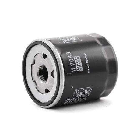 MANN-FILTER: Original Ölfilter W 7043 (Innendurchmesser 2: 62mm, Ø: 76mm, Außendurchmesser 2: 72mm, Höhe: 91mm) mit vorteilhaften Preis-Leistungs-Verhältnis