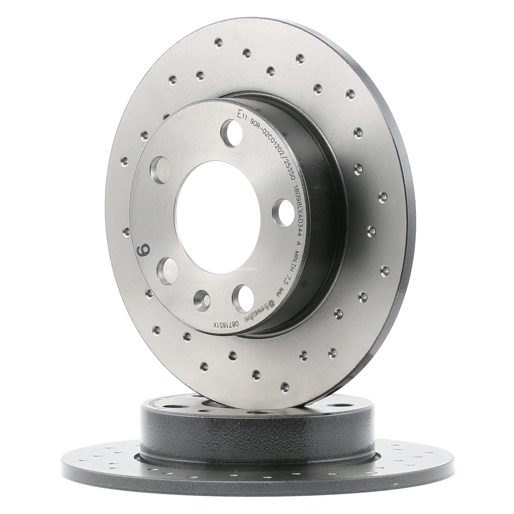 Achetez Disque de frein BREMBO 08.7165.1X (Ø: 230mm, Nbre de trous: 5, Épaisseur du disque de frein: 9mm) à un rapport qualité-prix exceptionnel