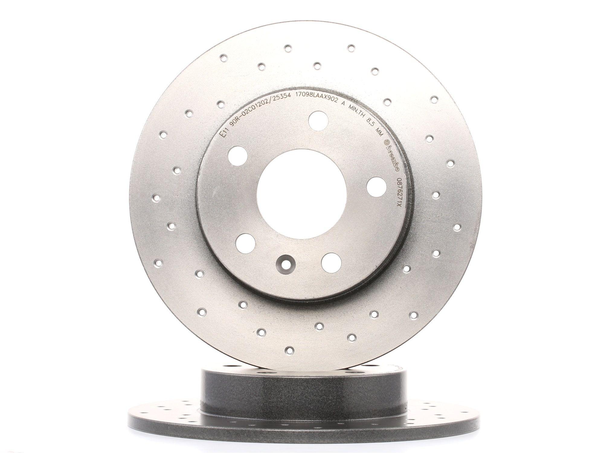 OPEL ASTRA 2014 Scheibenbremsen - Original BREMBO 08.7627.1X Ø: 264mm, Lochanzahl: 5, Bremsscheibendicke: 10mm