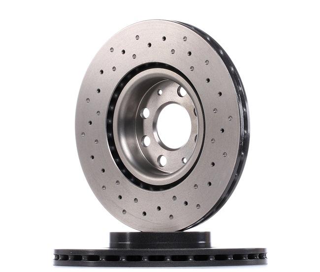 Bremsscheiben Opel Corsa D hinten und vorne 2009 - BREMBO 09.4939.3X (Ø: 284mm, Lochanzahl: 4, Bremsscheibendicke: 22mm)
