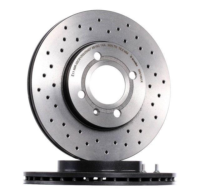Bremsscheibe 09.5166.1X — aktuelle Top OE 6NO 615 301 D Ersatzteile-Angebote