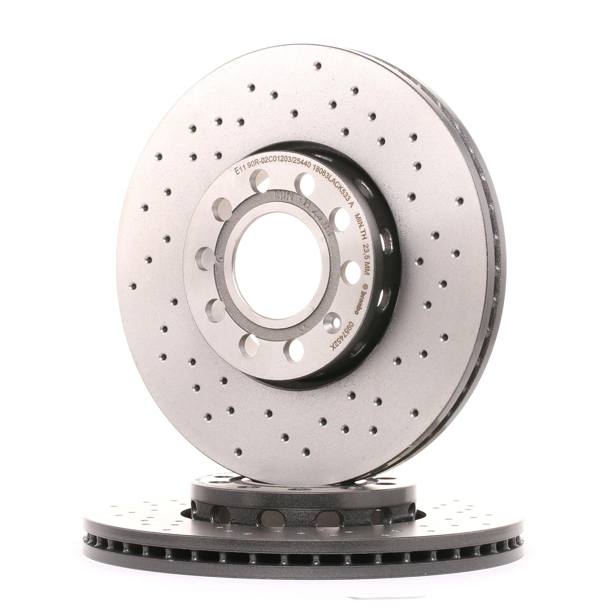 Achetez Disque BREMBO 09.5745.2X (Ø: 288mm, Nbre de trous: 5, Épaisseur du disque de frein: 25mm) à un rapport qualité-prix exceptionnel