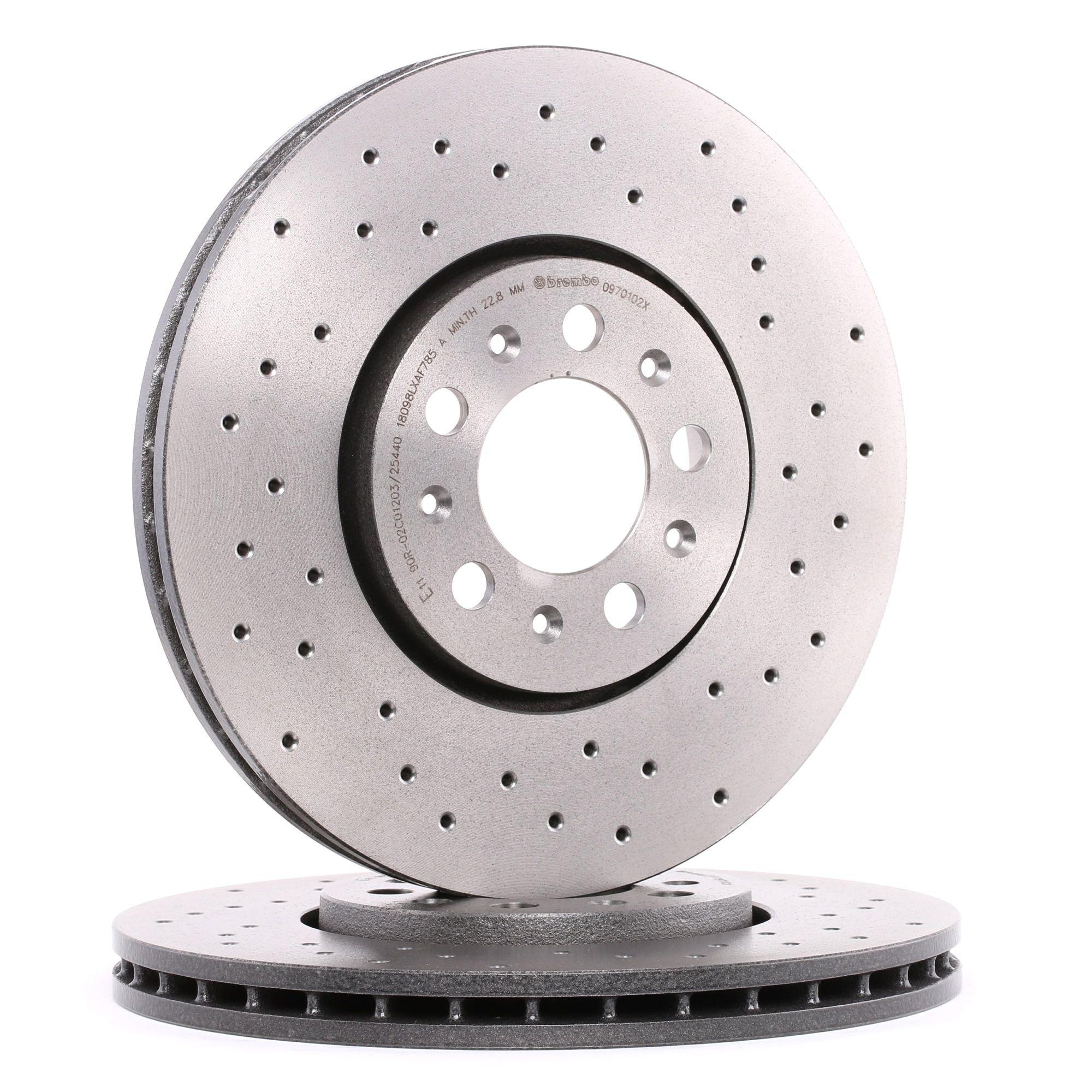 Buy original Brake discs BREMBO 09.7010.2X