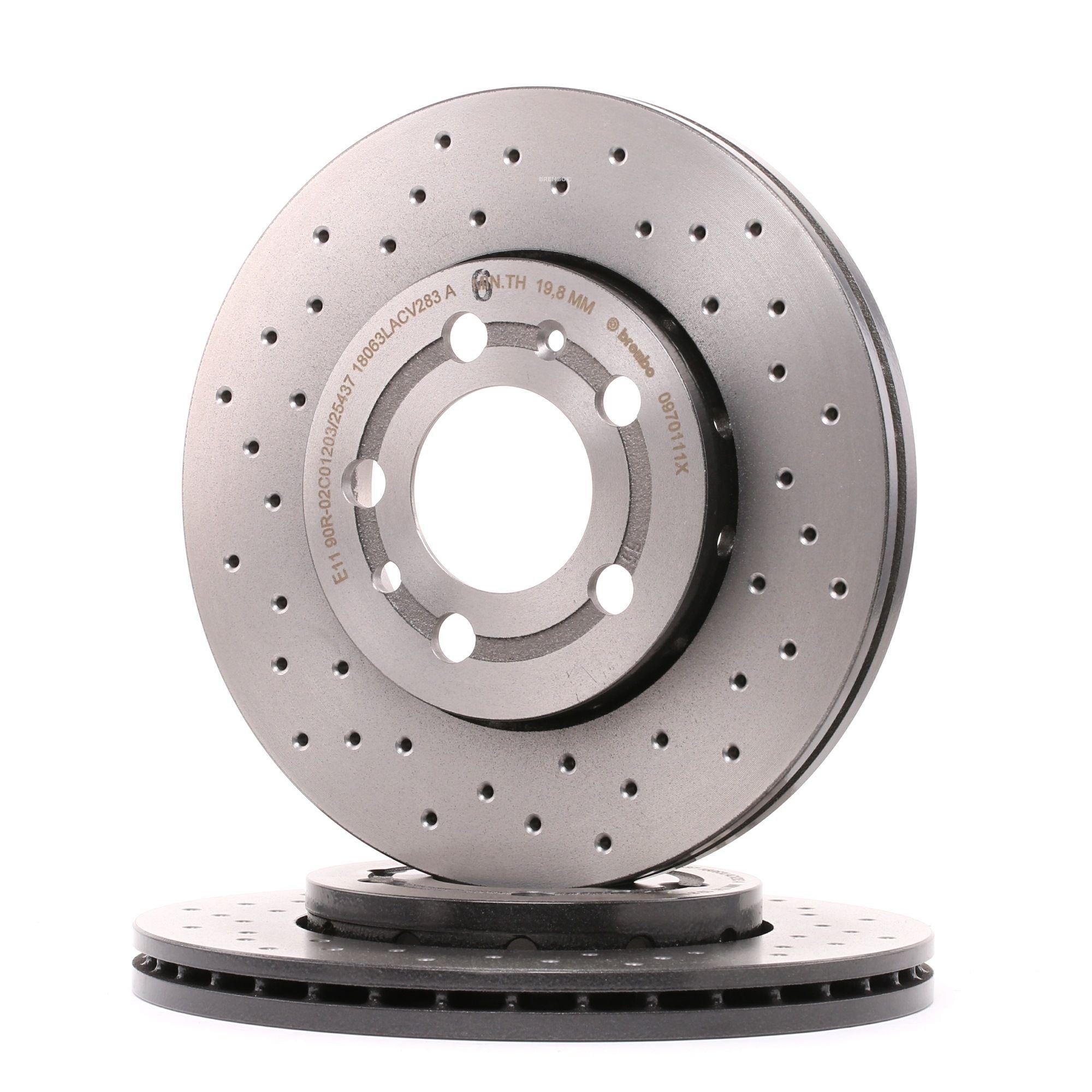 Achetez Disques de frein BREMBO 09.7011.1X (Ø: 256mm, Nbre de trous: 5, Épaisseur du disque de frein: 22mm) à un rapport qualité-prix exceptionnel