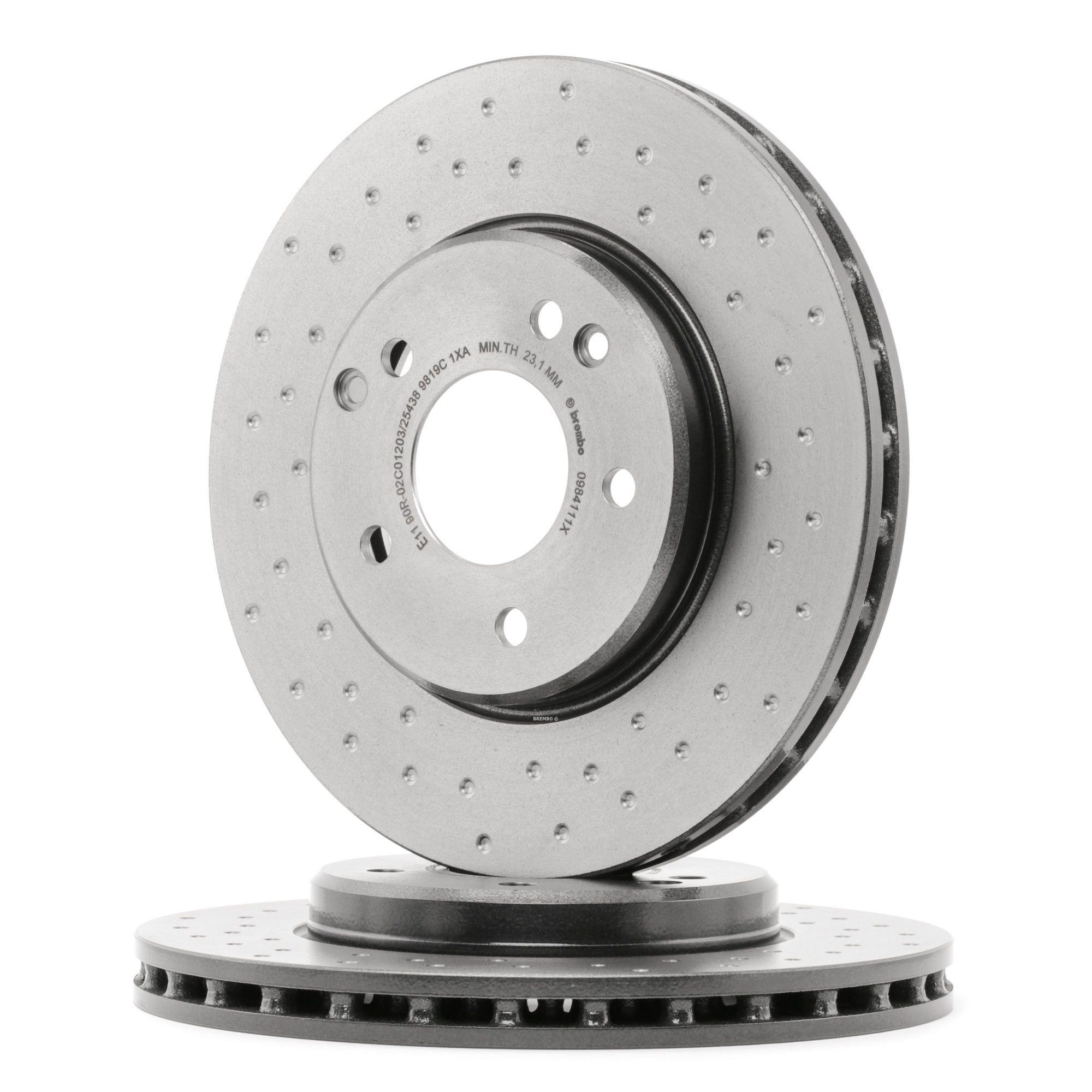 Origine Disque de frein BREMBO 09.8411.1X (Ø: 288mm, Nbre de trous: 5, Épaisseur du disque de frein: 25mm)