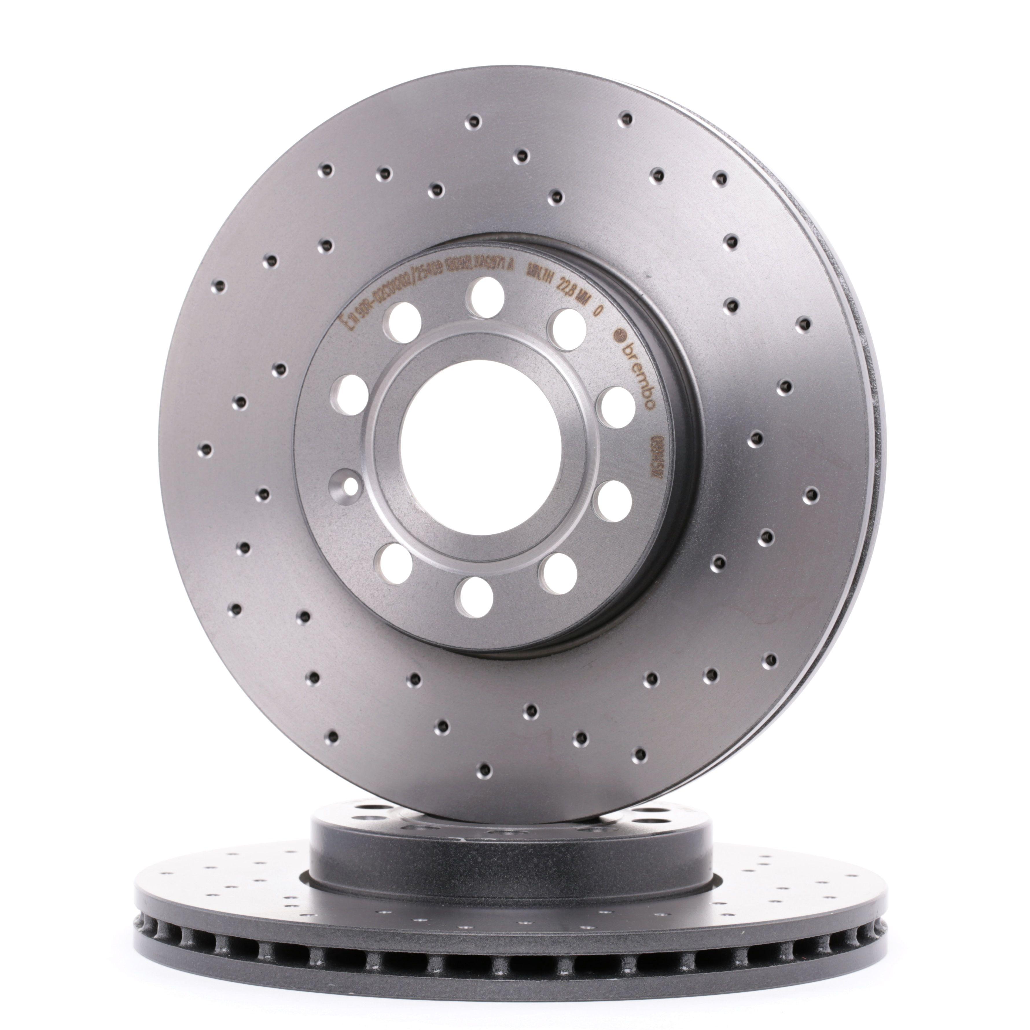 Buy Brake rotors set BREMBO 09.9145.1X Ø: 288mm, Num. of holes: 5, Brake Disc Thickness: 25mm