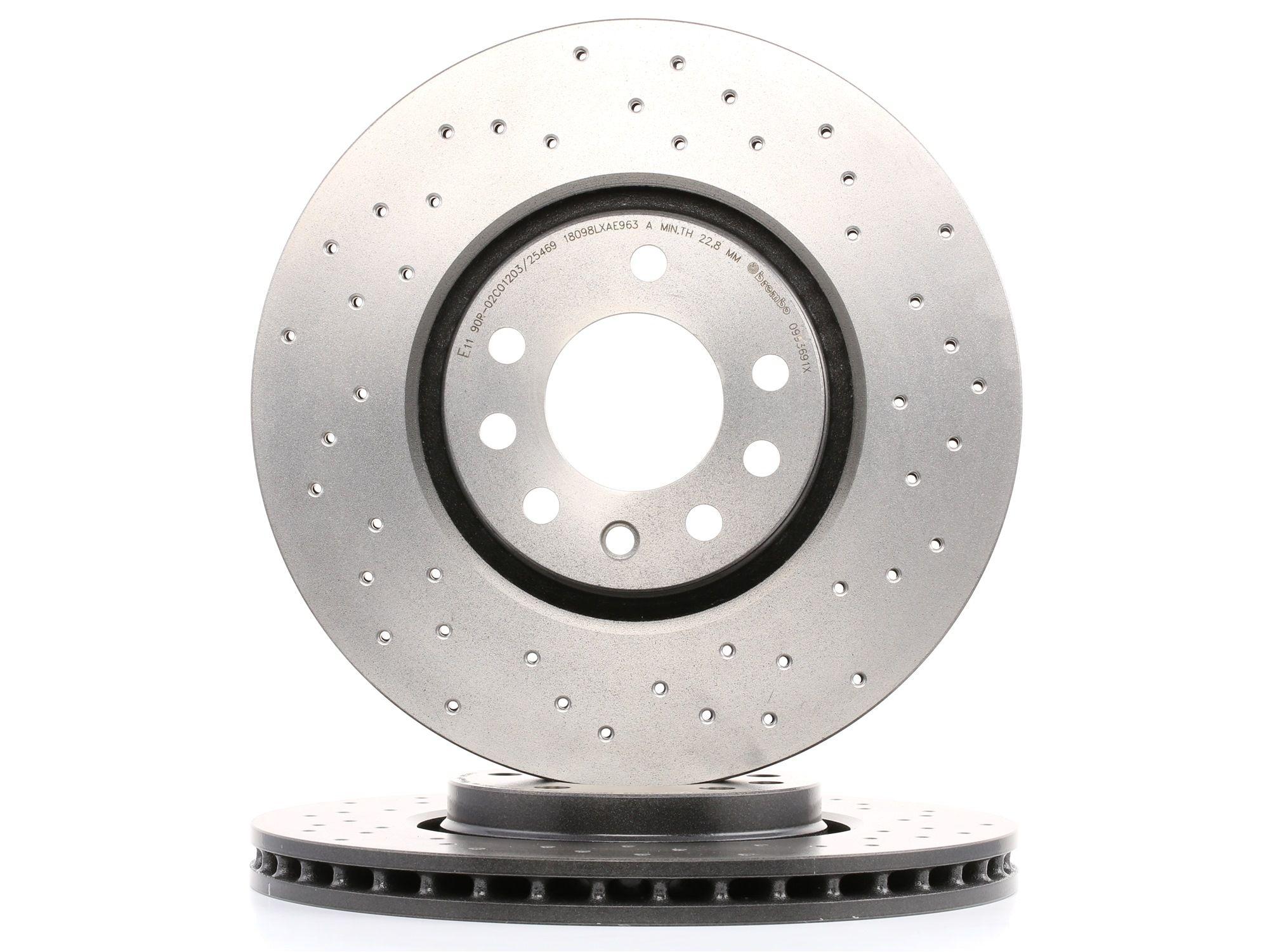 OPEL CORSA 2020 Scheibenbremsen - Original BREMBO 09.9369.1X Ø: 308mm, Lochanzahl: 5, Bremsscheibendicke: 25mm