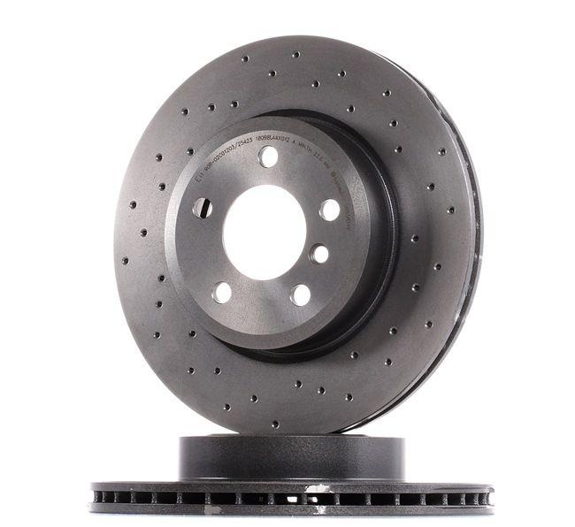 09.9581.1X BREMBO XTRA LINE Perforado/ventil. int., revestido, altamente carbonizado, con tornillos Ø: 325mm, Núm. orificios: 5, Espesor disco freno: 25mm Disco de freno 09.9581.1X a buen precio