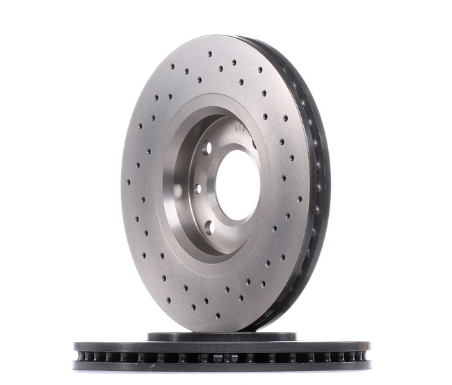 09.9619.1X BREMBO XTRA LINE Perforado/ventil. int., revestido, altamente carbonizado, con tornillos Ø: 283mm, Núm. orificios: 4, Espesor disco freno: 26mm Disco de freno 09.9619.1X a buen precio
