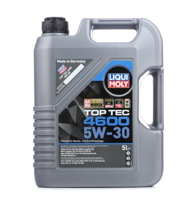 OpelGMLLB025 LIQUI MOLY Top Tec, 4600 5W-30, 5L, Aceite sintetico Aceite de motor 2316 a buen precio