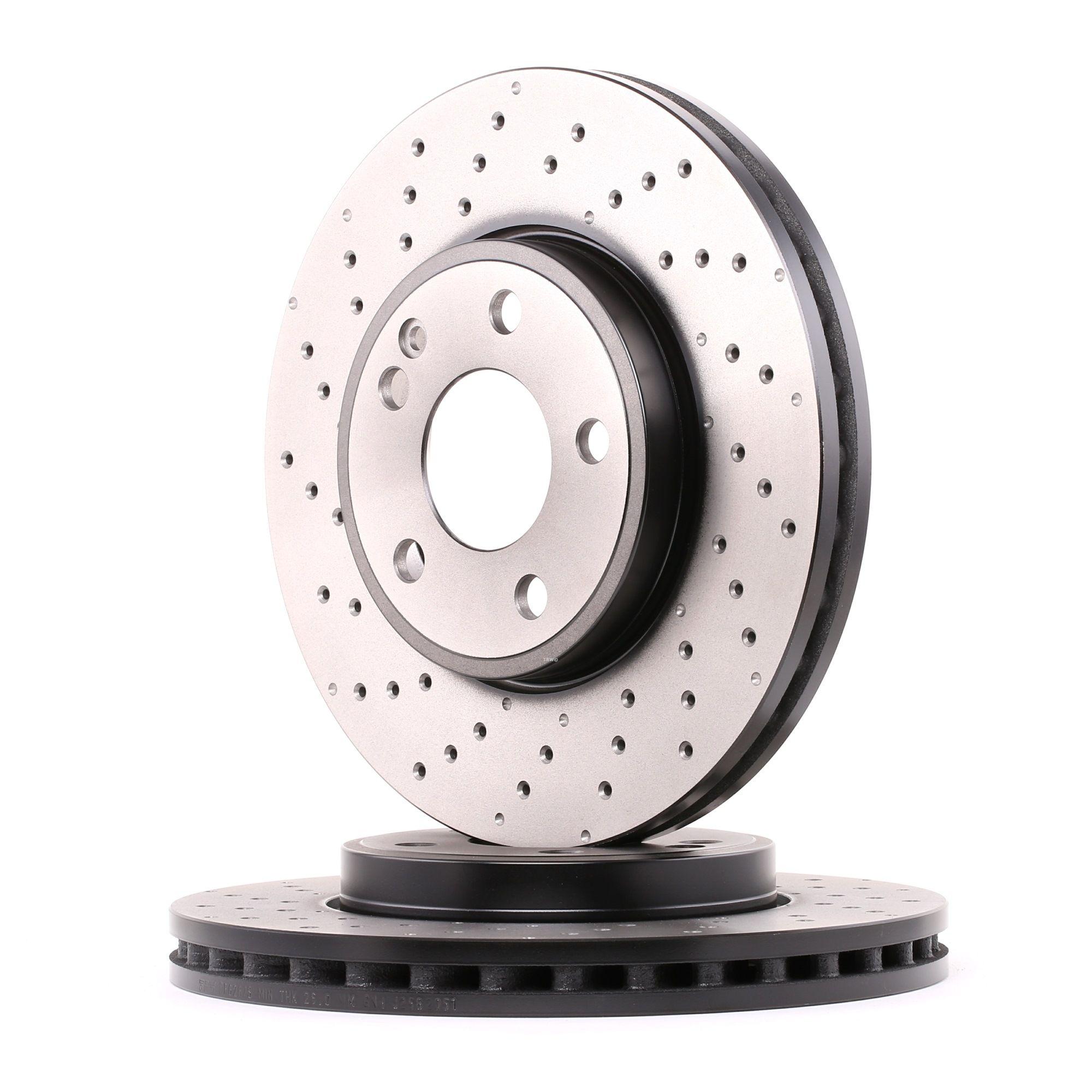 Origine Disque de frein TRW DF6262S (Ø: 295mm, Nbre de trous: 5, Épaisseur du disque de frein: 28mm)
