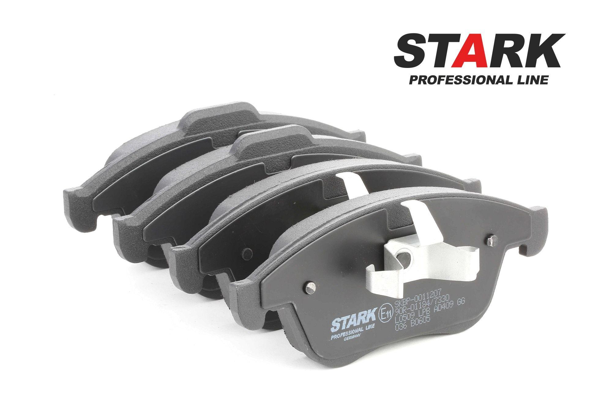 SKBP-0011207 STARK Vorderachse, exkl. Verschleißwarnkontakt, mit Kolbenclip Höhe 1: 63mm, Höhe 2: 68mm, Breite: 155.2mm, Dicke/Stärke: 18mm Bremsbelagsatz, Scheibenbremse SKBP-0011207 günstig kaufen
