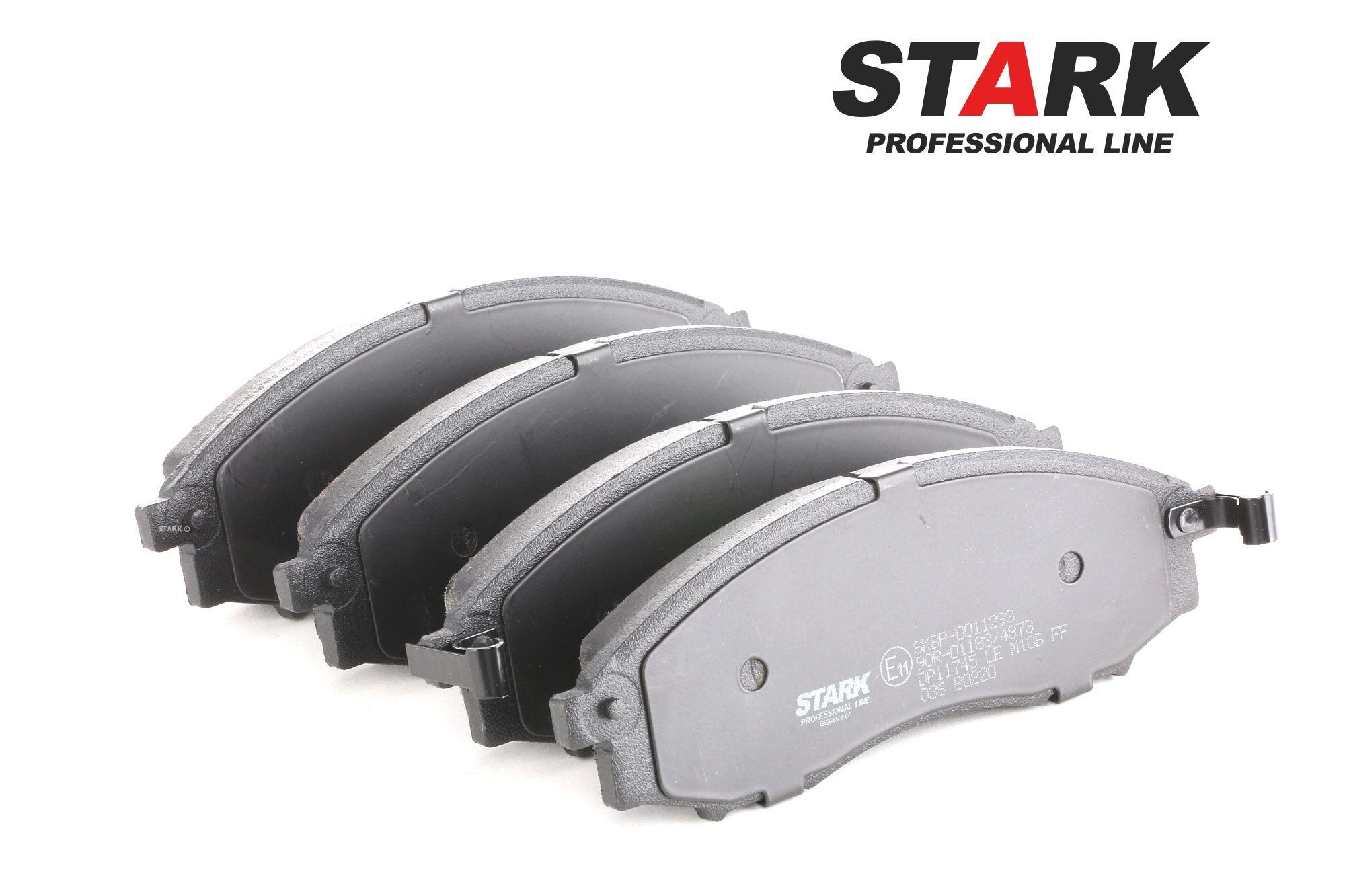 NISSAN NP300 PICKUP 2014 Bremsbelagsatz - Original STARK SKBP-0011293 Höhe: 56,65mm, Dicke/Stärke: 16,2mm