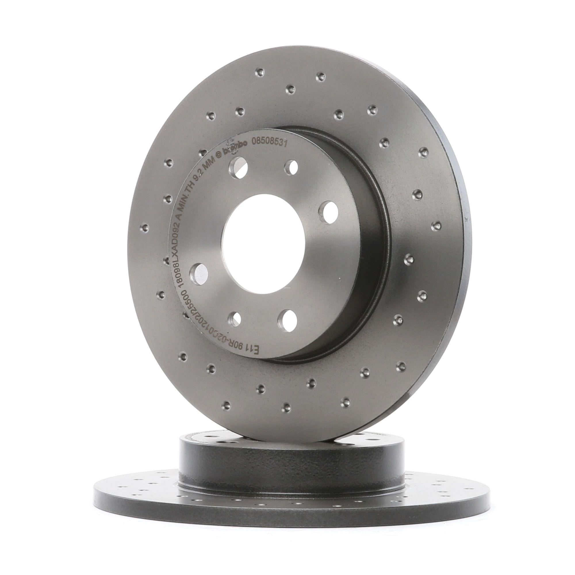 08.5085.31 BREMBO COATED DISC LINE Gelocht, Voll, beschichtet, mit Schrauben Ø: 240mm, Lochanzahl: 4, Bremsscheibendicke: 11mm Bremsscheibe 08.5085.31 günstig kaufen