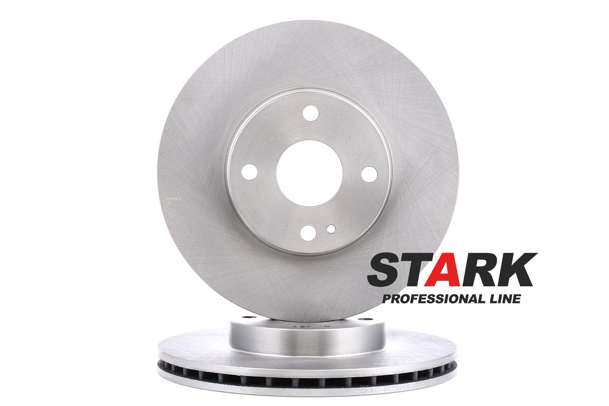 SKBD-0022966 STARK Vorderachse, Innenbelüftet, ohne Radbefestigungsbolzen, ohne Radnabe Ø: 257mm, Bremsscheibendicke: 22mm Bremsscheibe SKBD-0022966 günstig kaufen