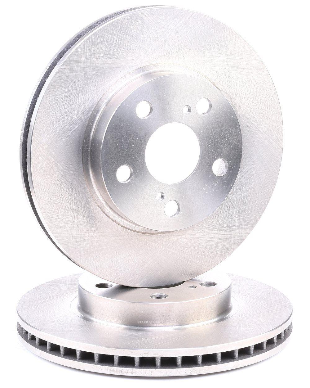 SKBD-0022968 STARK Vorderachse, Innenbelüftet Ø: 255mm, Bremsscheibendicke: 25mm Bremsscheibe SKBD-0022968 günstig kaufen