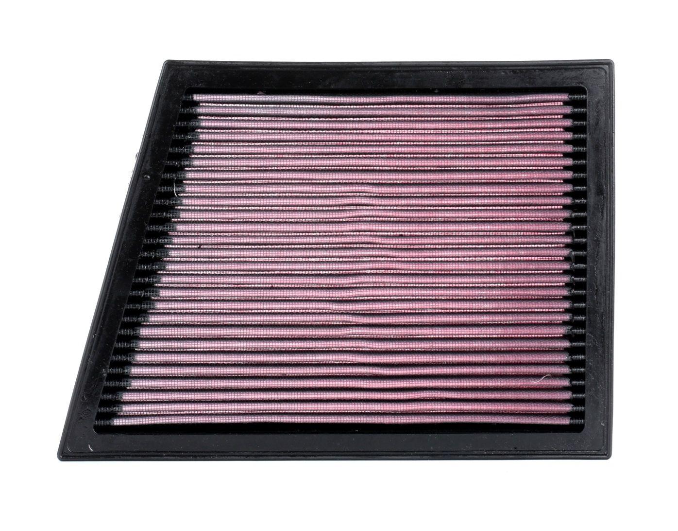 K&N Filters: Original Luftfiltereinsatz 33-3025 (Länge: 289mm, Länge: 289mm, Breite: 207mm, Höhe: 24mm)