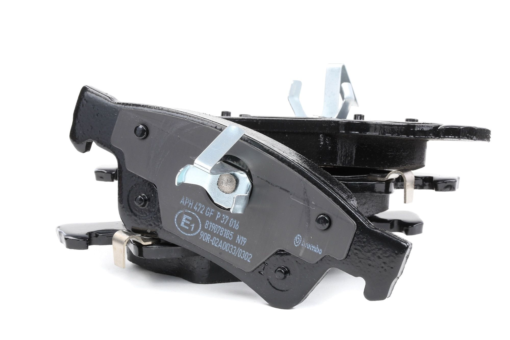 DODGE DURANGO 2020 Bremsbelagsatz - Original BREMBO P 37 016 Höhe 1: 51,8mm, Höhe 2: 59,6mm, Breite 1: 140,1mm, Breite 2: 141,4mm, Dicke/Stärke: 18mm