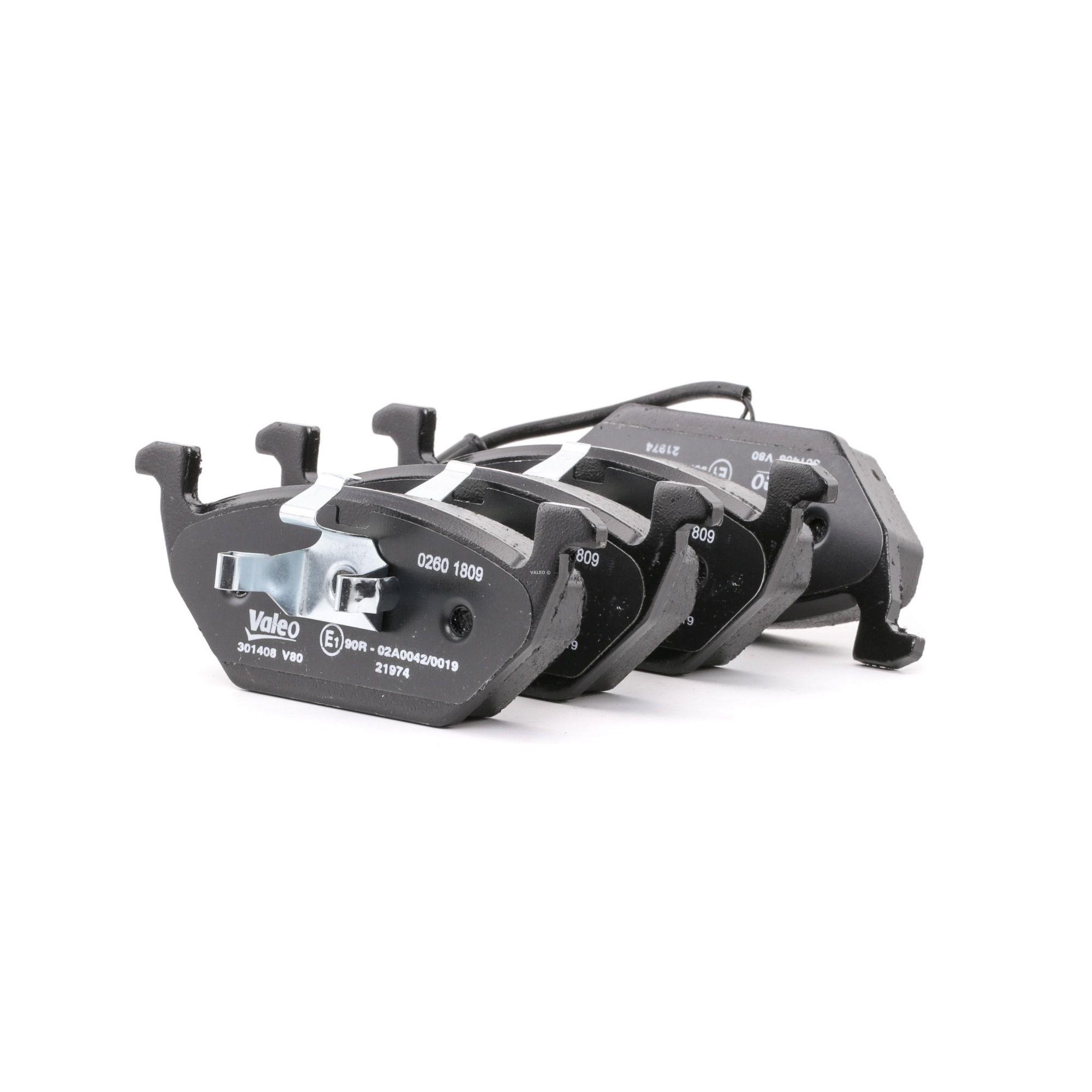 Buy Brake pads VALEO 301408 Height 2: 54,7mm, Height: 54,7mm, Width 2 [mm]: 146,4mm, Width: 146,4mm, Thickness 2: 18,5mm, Thickness: 18,5mm
