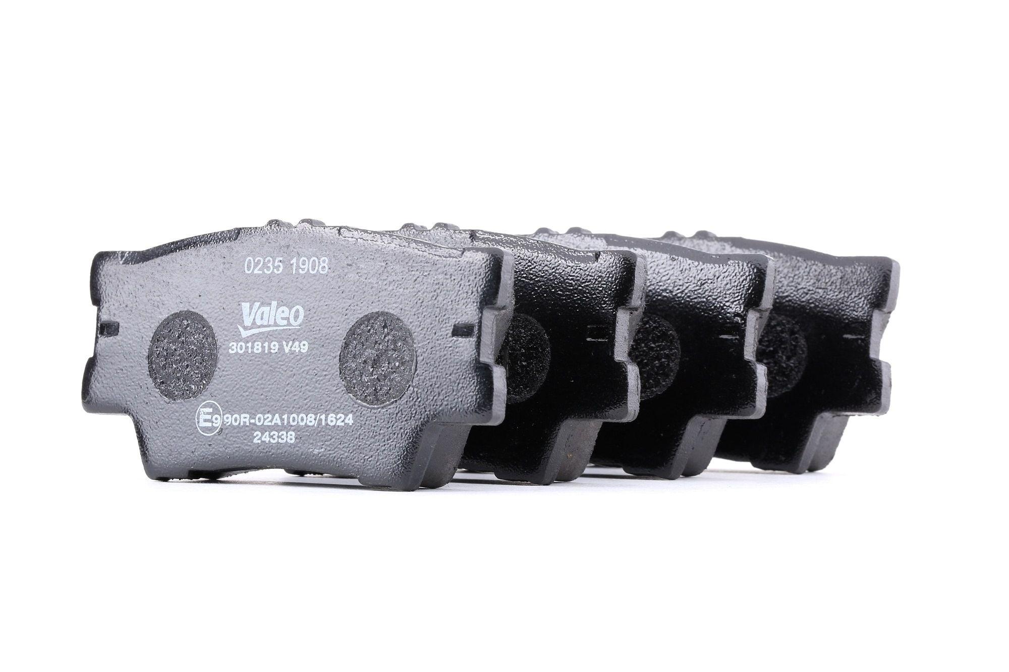 LEXUS LFA 2011 Bremsbelagsatz - Original VALEO 301819 Höhe: 49,1mm, Breite: 96,9mm, Dicke/Stärke: 15,9mm