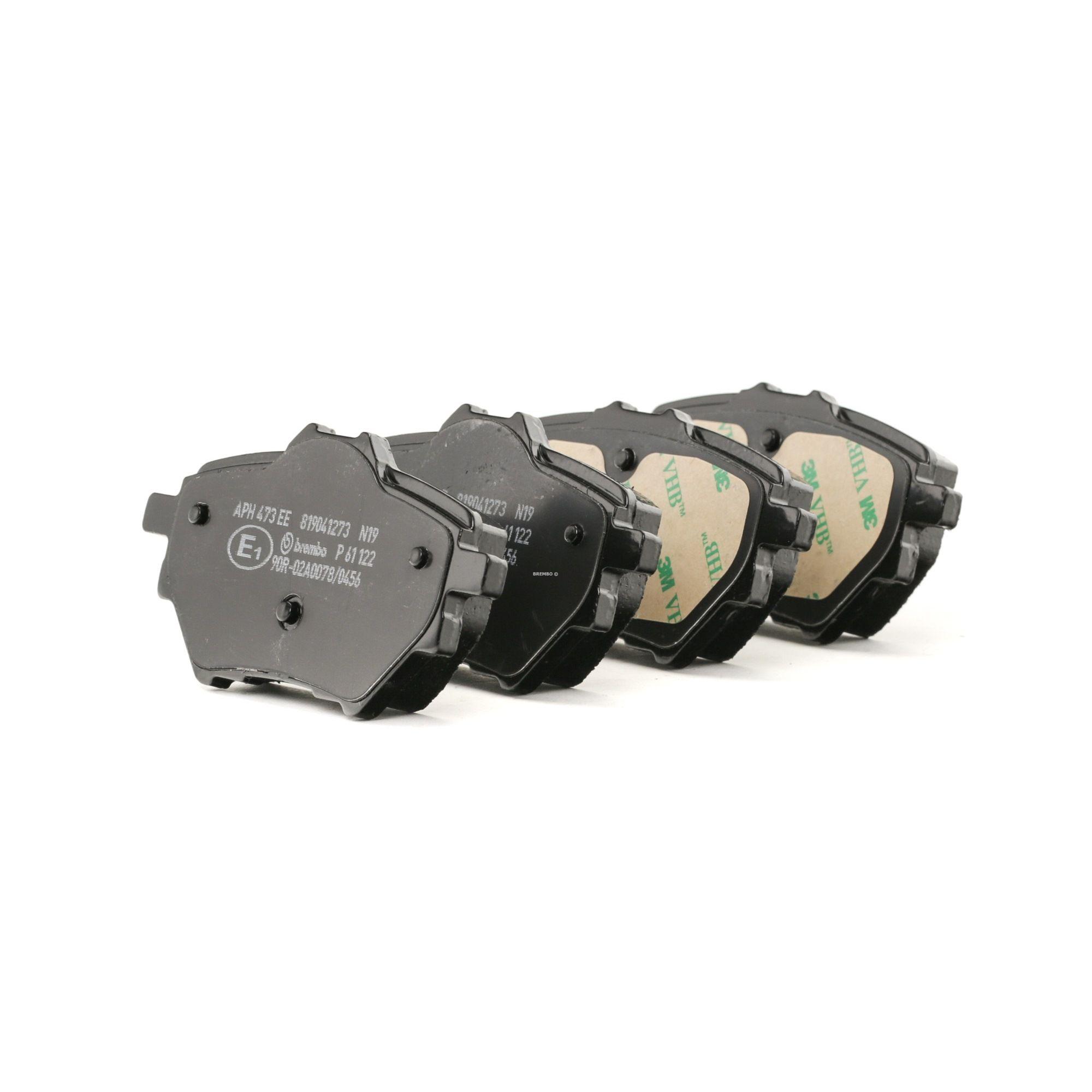 Bremsklötze OPEL Corsa F Schrägheck hinten + vorne 2021 - BREMBO P 61 122 (Höhe 1: 50mm, Höhe 2: 53,4mm, Breite: 98,9mm, Dicke/Stärke: 17,5mm)