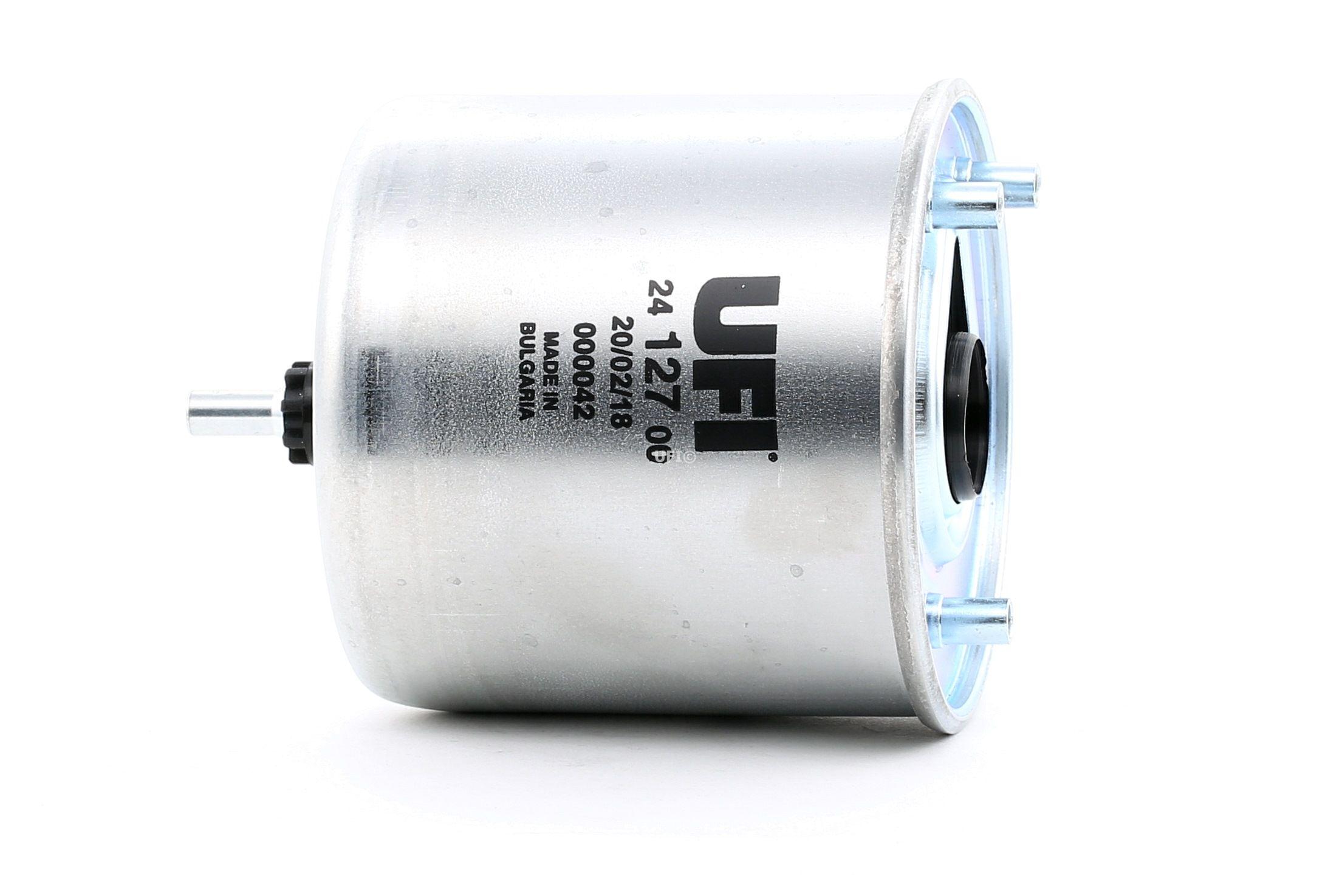 24.127.00 UFI Höhe: 125,0mm Kraftstofffilter 24.127.00 günstig kaufen