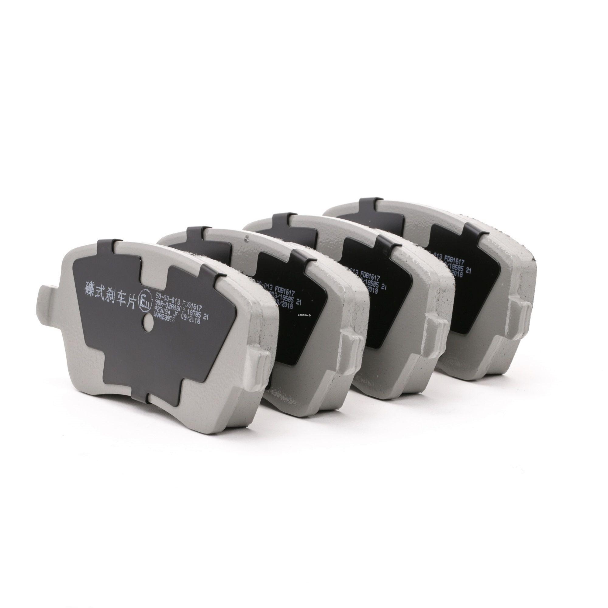 50-00-013 ASHIKA Vorderachse Höhe: 52,6mm, Dicke/Stärke: 16,2mm Bremsbelagsatz, Scheibenbremse 50-00-013 günstig kaufen