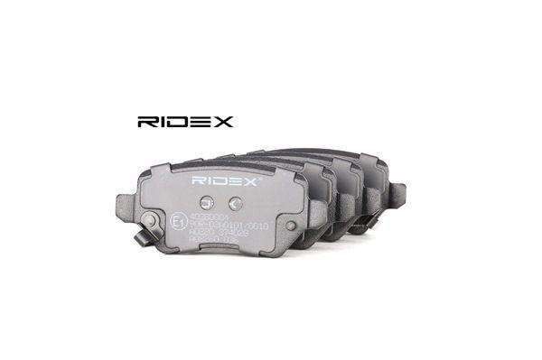 Αγοράστε RIDEX Σετ τακάκια, δισκόφρενα 402B0004 οποιαδήποτε στιγμή