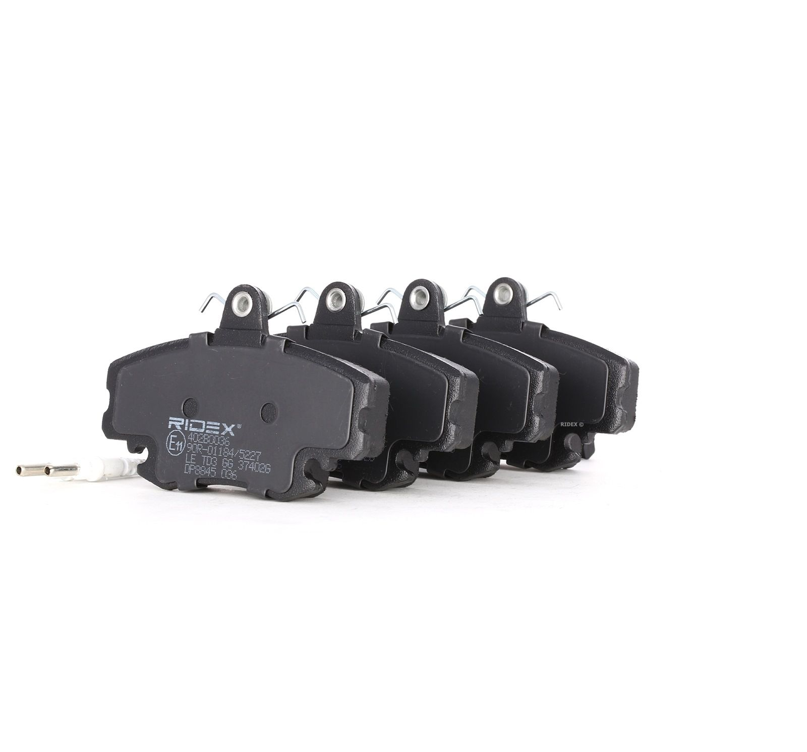 402B0036 RIDEX Vorderachse, inkl. Verschleißwarnkontakt Höhe: 64,8mm, Breite: 99,9mm, Dicke/Stärke: 18,2mm Bremsbelagsatz, Scheibenbremse 402B0036 günstig kaufen
