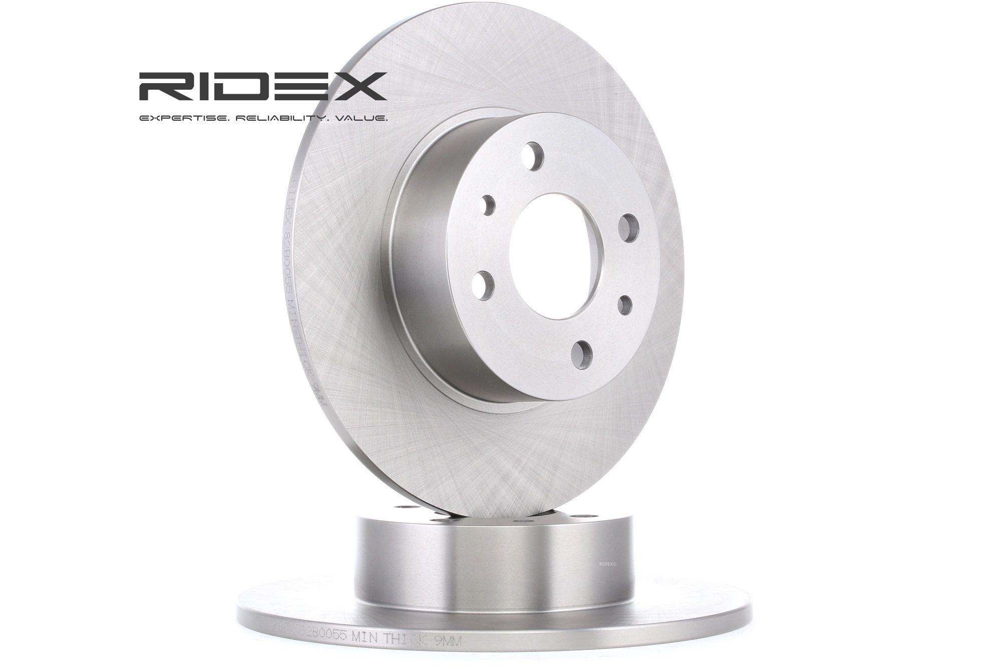 RIDEX: Original Bremsscheibe 82B0055 (Ø: 251mm, Bremsscheibendicke: 10,0mm)