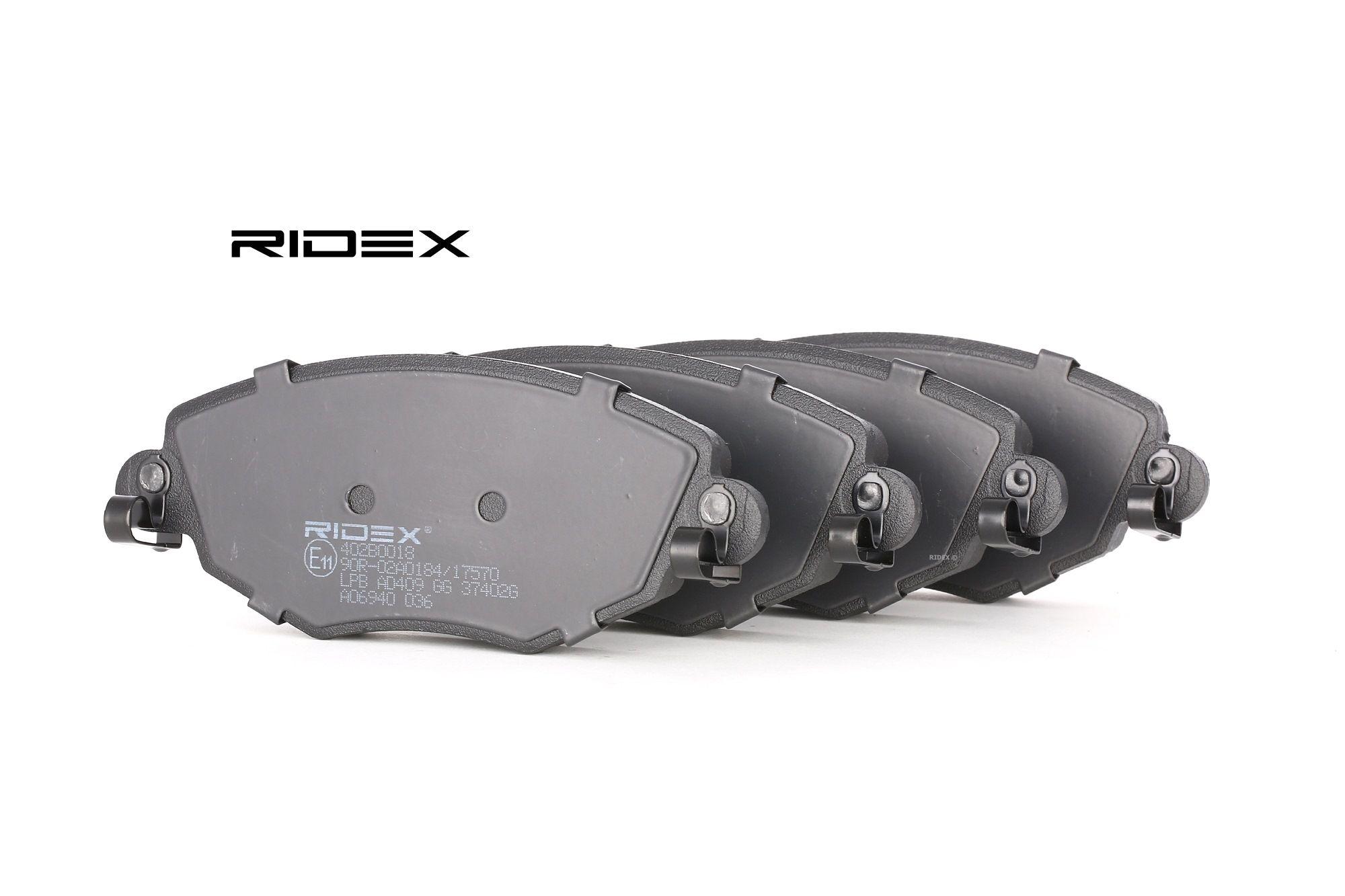 Bremsbelagsatz RIDEX 402B0018