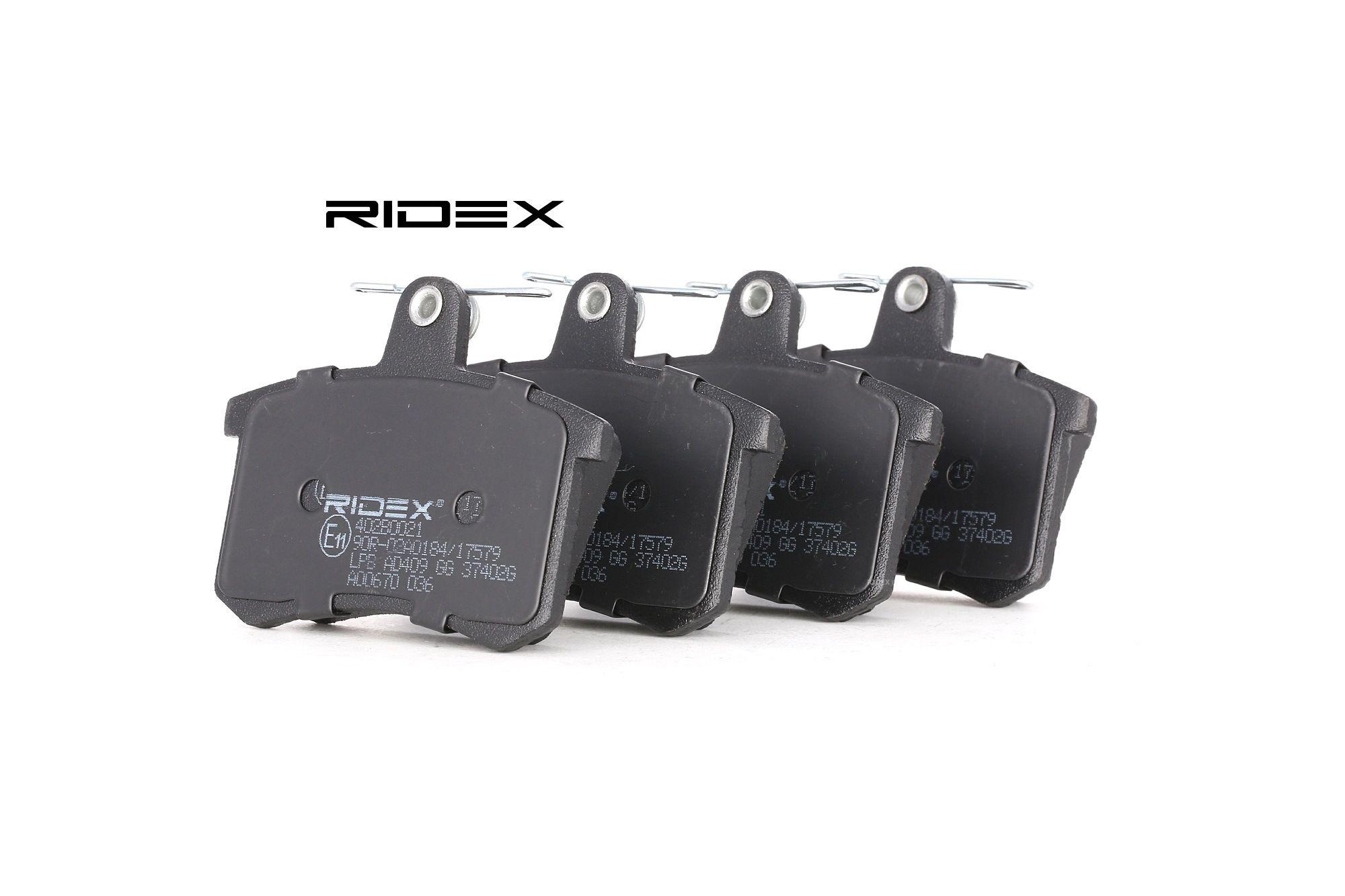RIDEX: Original Scheibenbremsbeläge 402B0021 (Höhe: 67,9mm, Breite: 87,5mm, Dicke/Stärke: 16,6mm)