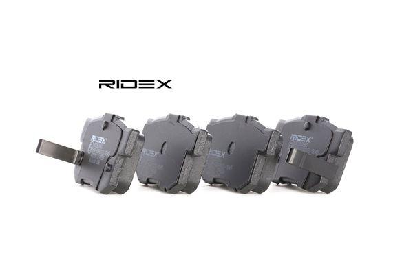 RIDEX: Original Bremsbelagsatz 402B0060 (Höhe: 46,84mm, Breite: 88,8mm, Dicke/Stärke: 14,6mm)