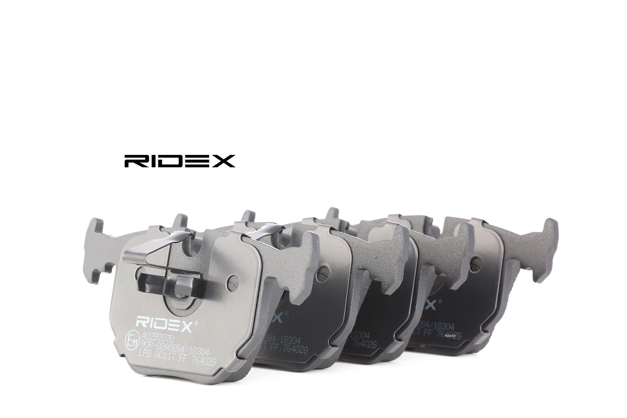 RIDEX: Original Bremsbelagsatz 402B0070 (Höhe: 59,2mm, Breite: 123,2mm, Dicke/Stärke: 17,2mm)