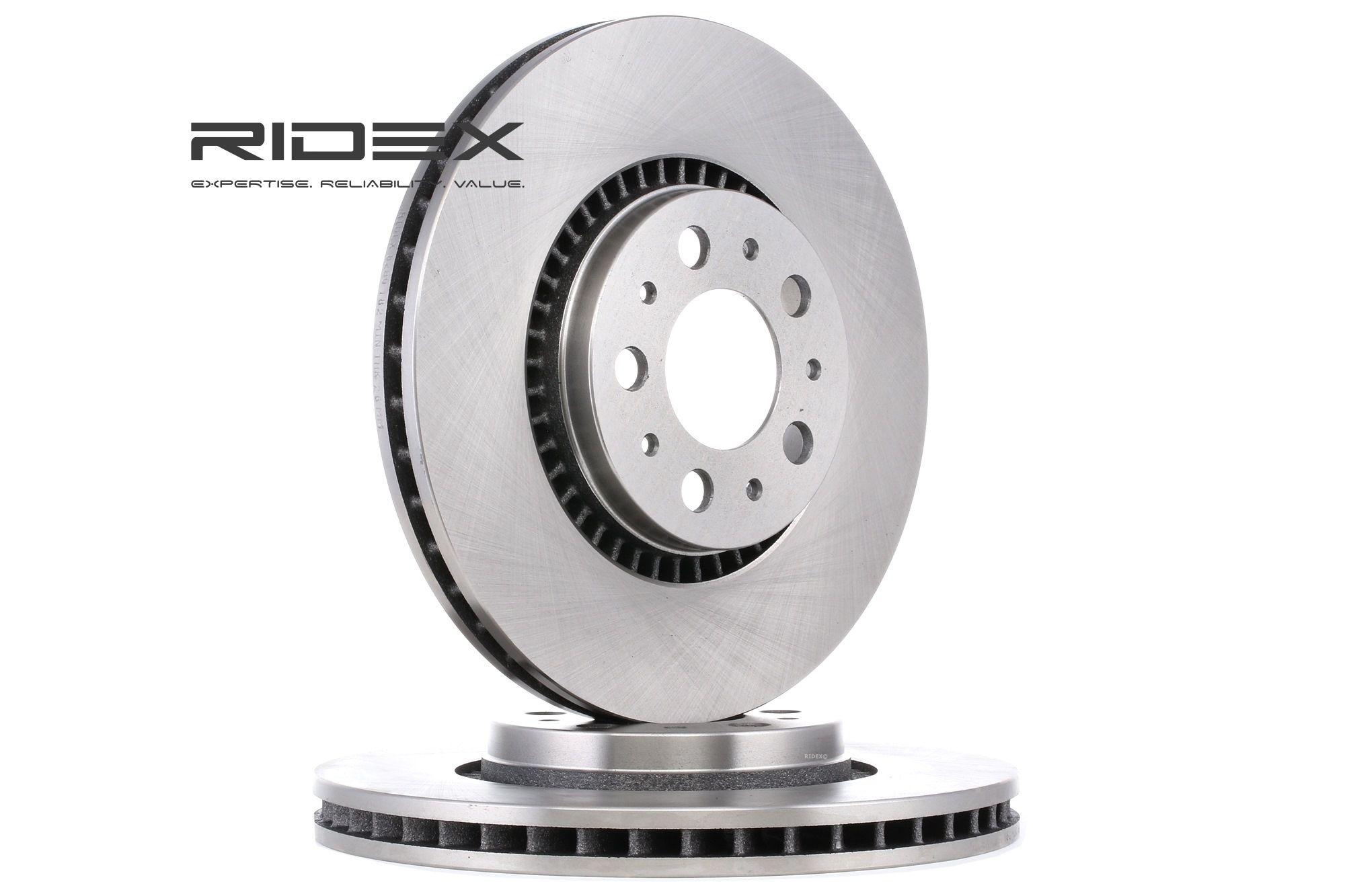 VOLVO XC70 2014 Bremsscheiben - Original RIDEX 82B0182 Ø: 305mm, Ø: 305,0mm, Lochanzahl: 5, Felge: 5-loch, Bremsscheibendicke: 27,9mm