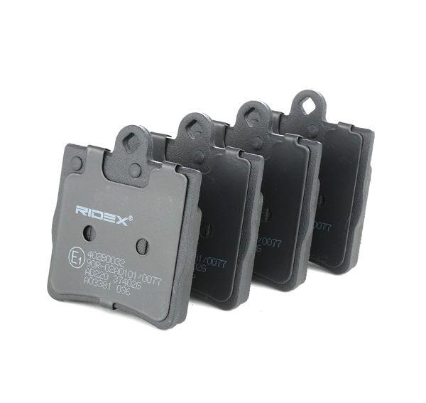 RIDEX: Original Bremsbelagsatz 402B0032 (Höhe: 72,9mm, Breite: 63,6mm, Dicke/Stärke: 15,3mm)