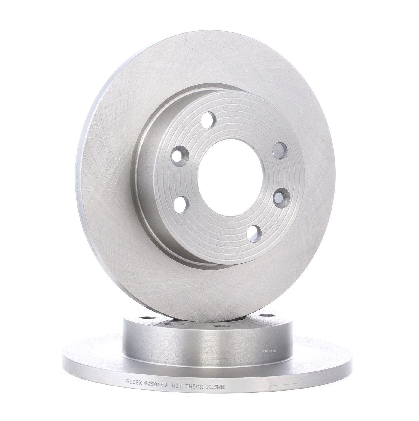 Achat de 82B0659 RIDEX Essieu avant, plein, sans boulon de fix° de roue, sans moyeu de roue Ø: 238,0mm, Épaisseur du disque de frein: 12mm Disque de frein 82B0659 pas chères