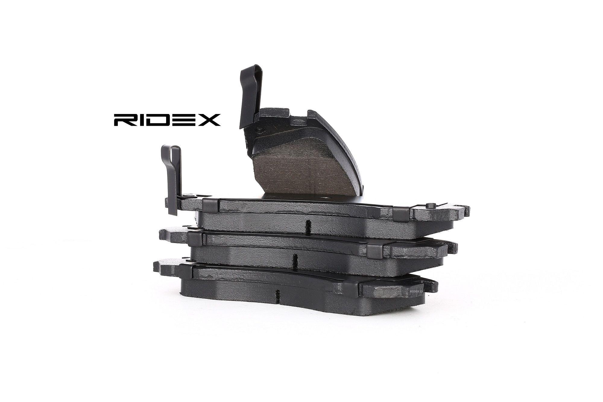 DODGE RAMCHARGER 1995 Bremsbelagsatz - Original RIDEX 402B0069 Höhe: 58,6mm, Breite: 149,8mm, Dicke/Stärke: 15,7mm