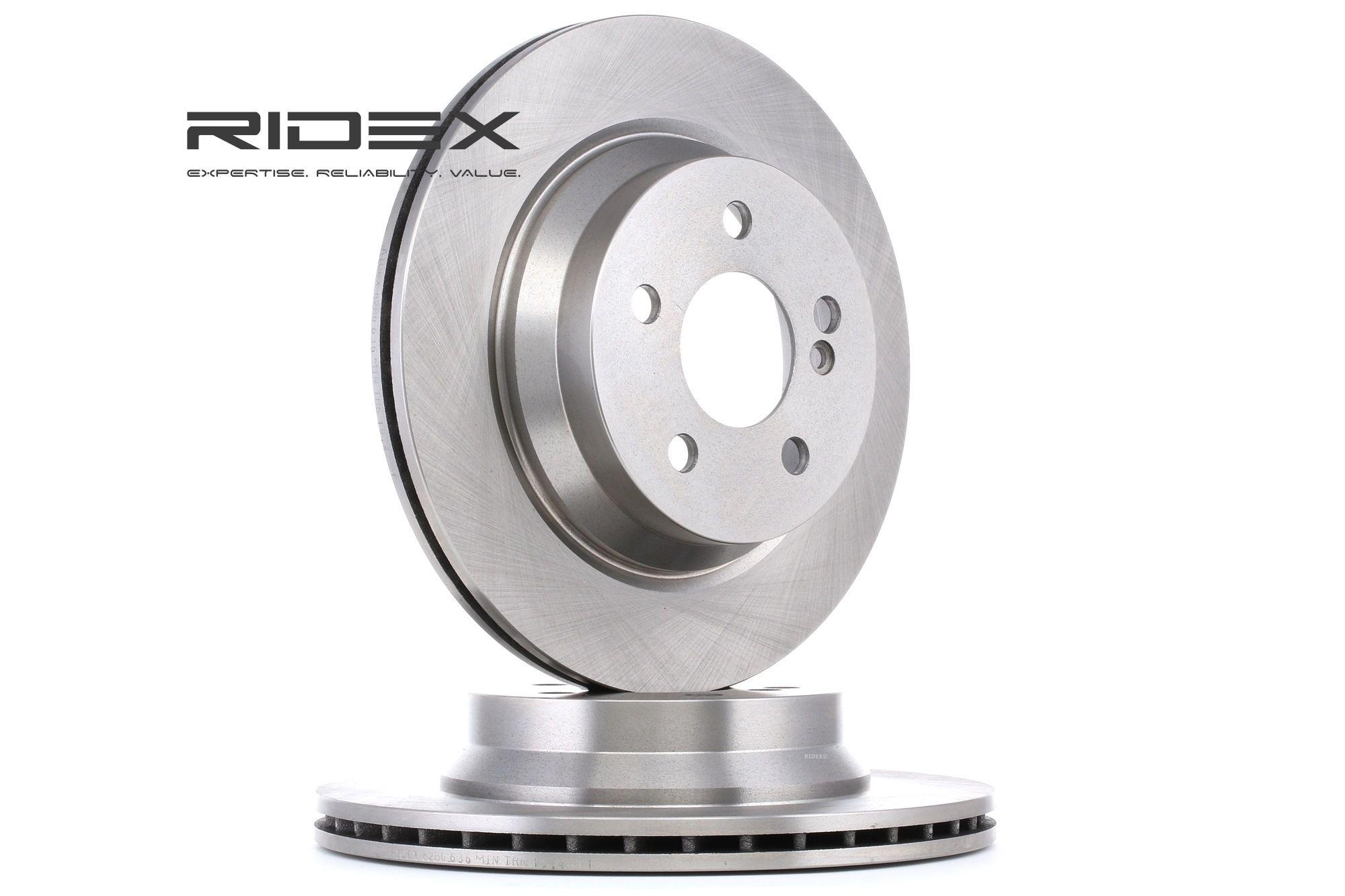 Freni a disco 82B0636 con un ottimo rapporto RIDEX qualità/prezzo