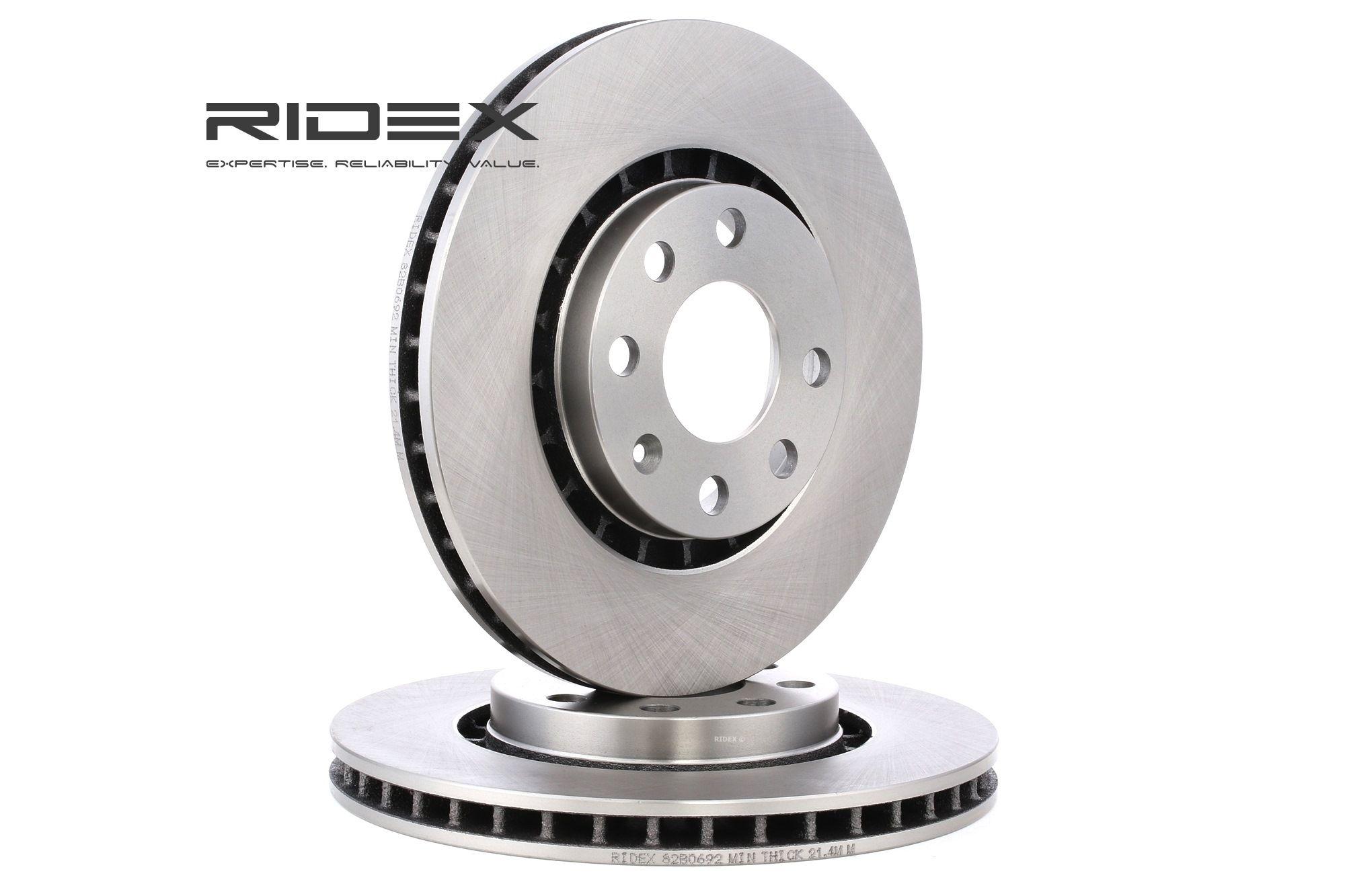 Bremsscheibe OPEL Astra F Classic CC (T92) hinten und vorne 2002 - RIDEX 82B0692 (Ø: 256,0mm, Bremsscheibendicke: 24mm)