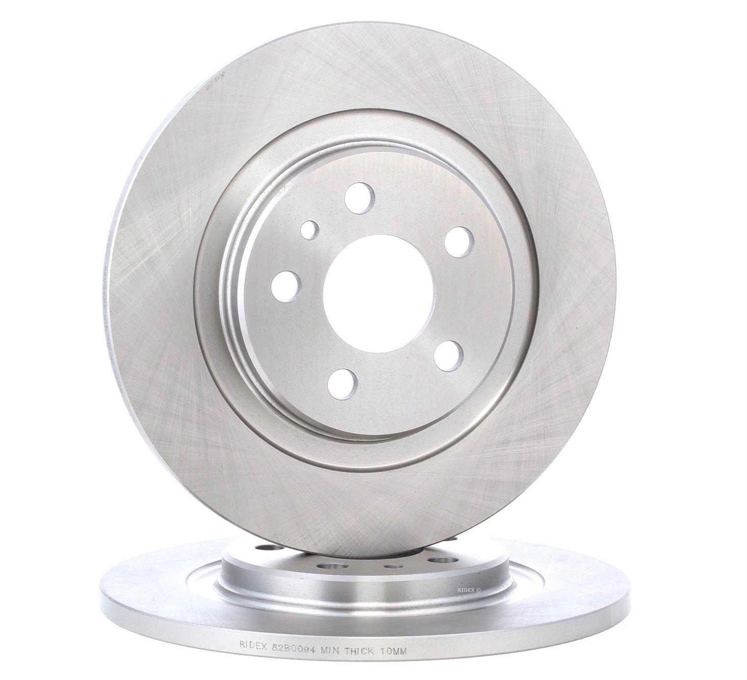 Achat de 82B0094 RIDEX Essieu arrière, plein, sans vis/boulons Ø: 272mm, Nbre de trous: 5, Épaisseur du disque de frein: 12mm Disque de frein 82B0094 pas chères