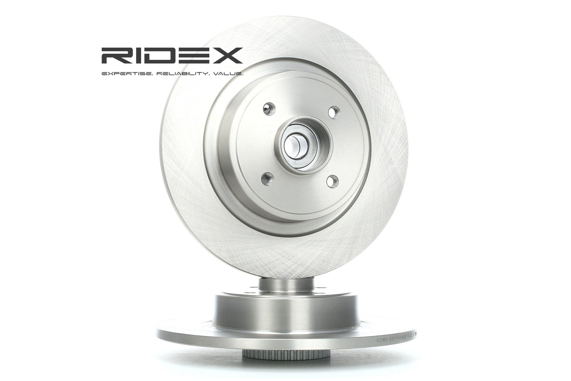 Achat de 82B0688 RIDEX Essieu arrière, plein, avec bague ABS, avec roulement de roue Ø: 274,0mm, Épaisseur du disque de frein: 11,0mm Disque de frein 82B0688 pas chères