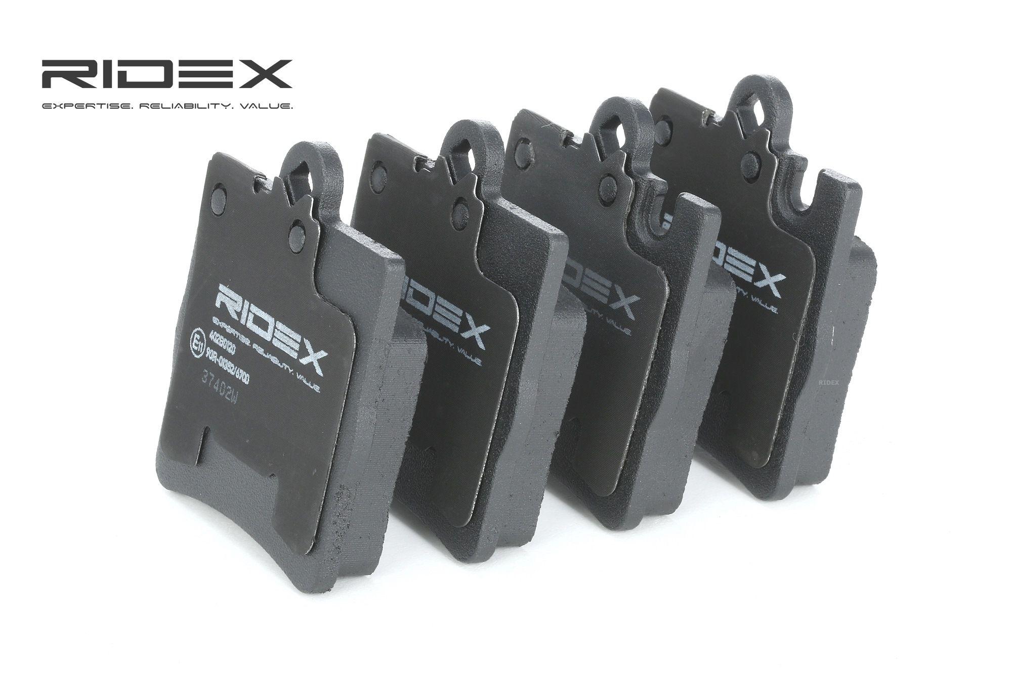 MERCEDES-BENZ CLC 2010 Bremsbelagsatz - Original RIDEX 402B0120 Höhe: 78,2mm, Breite: 63,7mm, Dicke/Stärke: 15,3mm