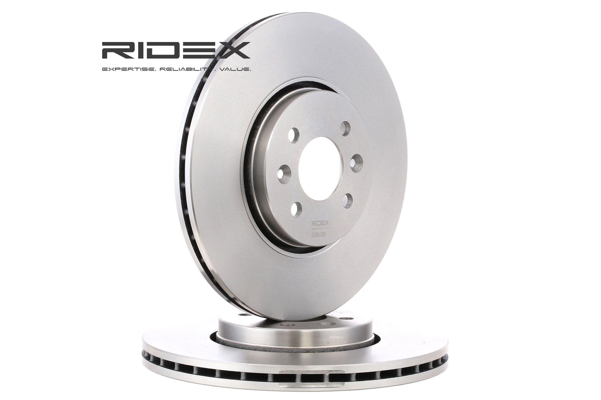 Stabdžių diskas 82B0326 su puikiu RIDEX kainos/kokybės santykiu
